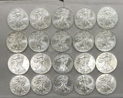 2013 American Silver Eagle Roll , 20 Coin In Tube
