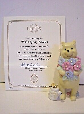 LENOX Disney POOH'S SPRING BOUQUET sculpture NEW in BOX with COA May
