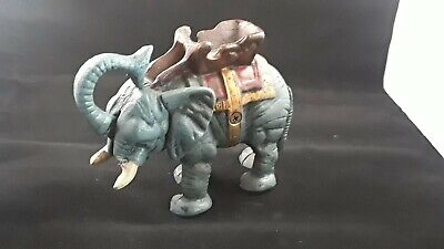 Design Toscano Circus Elephant Collectors' Die Cast Iron Mechanical Coin Bank