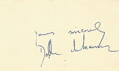 DAME DAPHNE DU MAURIER. Sig. Novelist & Playwright. Wrote REBECCA and THE BIRDS