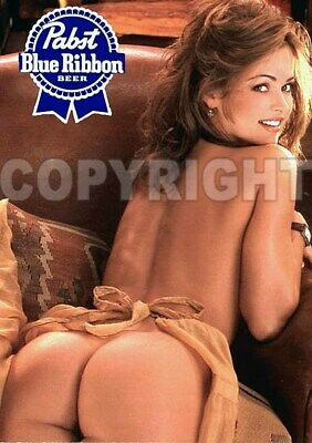 Fridge Magnet Sexy Pabst PBR beer playmate Karen McDougal bar art decor