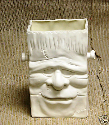 Ceramic Bisque Frankenstein Candy Bag Scioto Mold 2043 U-Paint Ready To Paint