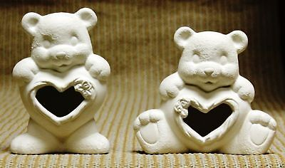 Ceramic Bisque Heart Bear Belly Bears Cut Clay Magic J1021 Ready To Paint
