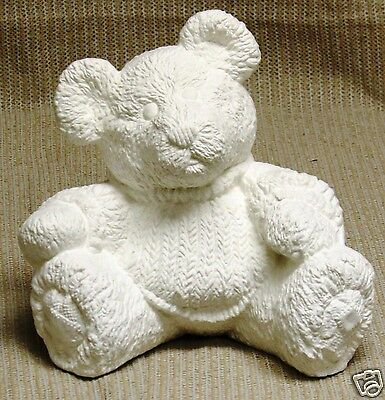 Ceramic Bisque Fluffy Bear with Sweater Gare Mold 3146 U-Paint Ready To Paint