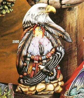 Ceramic Bisque Dream Eagle Totem Kimple Mold 2990 U-Paint Ready To Paint