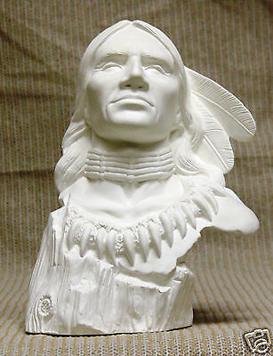 Ceramic Bisque Drift Wood Brave Doc Holliday Mold 1882 U-Paint Ready To Paint