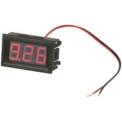 TechBrands Self-Powered Red LED Voltmeter BRAND NEW