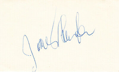 """JAMES THURBER. Signed Card. Writer & Cartoonist """"The New Yorker,"""" WALTER MITTY"""