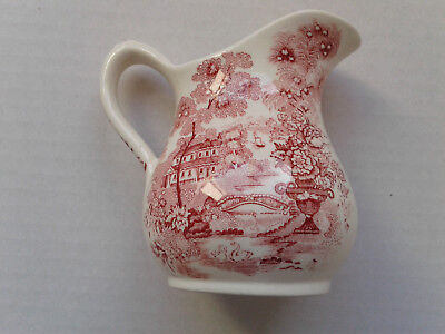 Beautiful Vintage Royal Staffordshire Red Transferware  Tonquin Creamer