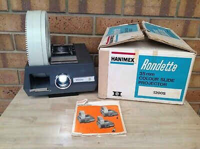 Hanimex Rondette 1200S 35Mm Slide Projector With 120 Slide Magazine, Collectable