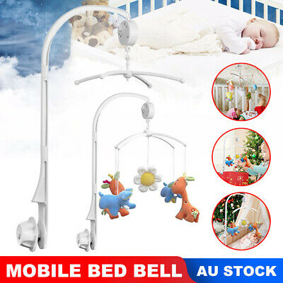 Baby Crib Mobile Bed Bell Toy Holder Arm Bracket + Wind-up Music Box DIY Gift AU