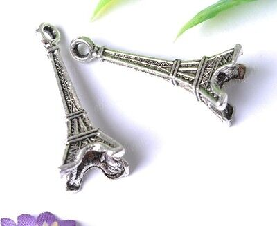 5pcs Tibetan Silver Tower Charms SH637