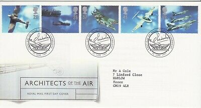 GB Stamps First Day Cover British Aircraft designers SHS Avro wing logo 1997