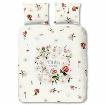 Good Morning Housse de couette 5574-P Flowers 155 x 220 cm Multicolore