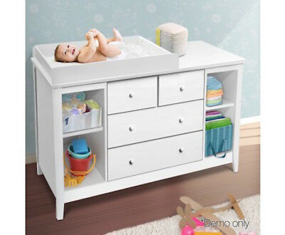 Baby Change Table Nursery Furniture Dresser Chest Storage 4 Drawers Cabinet NEW
