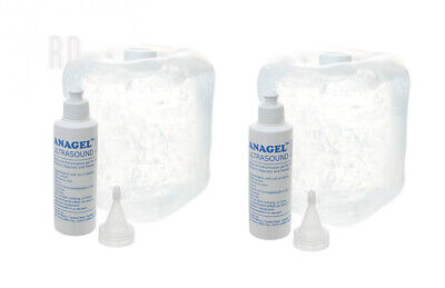 Anagel Ultrasound Gel Bottle 5L With Spare 250ml (2 Pack)