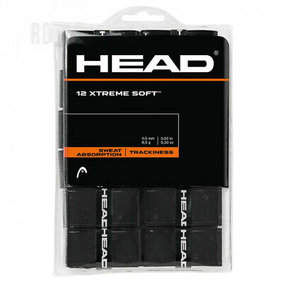 12 Overgrip Head Xtreme Soft tennis grips black