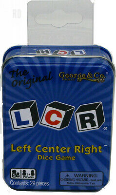 George & Company LLC LCR Left Center Right Dice Game - Blue Tin