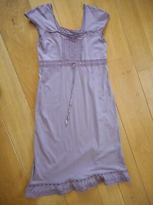 Sleeveless 100% Cotton Lavender Maternity Dress size 12 by JoJo Maman Bebe