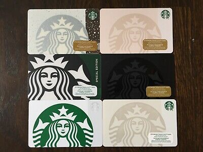 """Canada Series STARBUCKS 6 cards """"SIREN'S- VARIOUS YEARS"""" New No Value"""