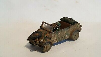 Expertly painted WW2 German 1/72 Kubelwagen And AB Driver.
