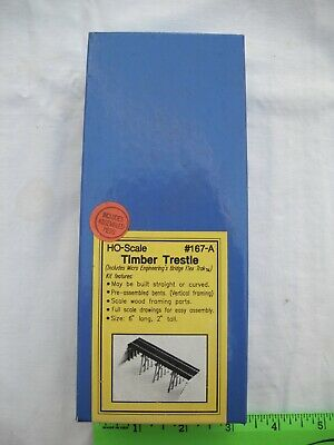 Blair Line 167-A Timber Trestle, Laser-Cut Wood Structure Building Kit, HO Scale