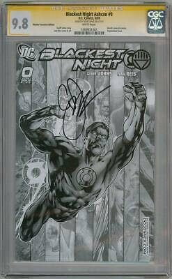 Blackest Night #0 Rrp Sketch Variant Cgc 9.8 Signature Series Signed Johns Dc