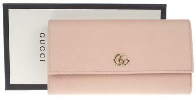 253bf5b1a8ec New Gucci Light Pink Gg Marmont Leather Continental Long Clutch Wallet