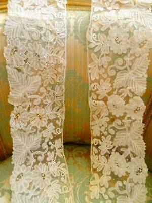 A Stunning Length Of Victorian Handmade Brussels Lace C.1890
