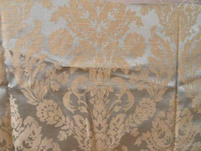 A beautiful 19th Century French Woven Lyon Damask ~ Olive Green ~ Gold