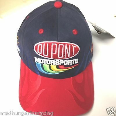 79fa13f6811 Vintage Nascar Jeff Gordon Dupont Fitted Flame Hat cap Chase New W  Tag