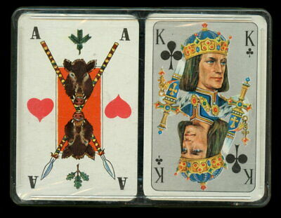Spielkarten playing cards jeu de cartes Sonderbild COEUR Altenburg um 1975