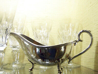 Fancy International Silver Footed Sauce Boat - Kingsbury Pattern Classical Style