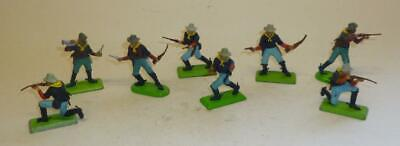 GROUP OF BRITAINS VINTAGE PLASTIC DEETAIL 7th CAVALRY TROOPERS ON FOOT 1970'S