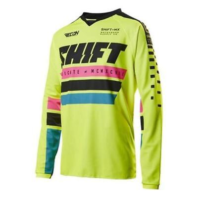 Shift Motocross Jersey Recon Gelb XL Enduro MX MTB Motorrad Shirt Mountainbike