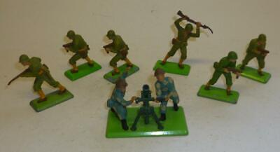 Group Of Britains Deetail 1970's Us Infantry Soldiers And A Different Mortar Set