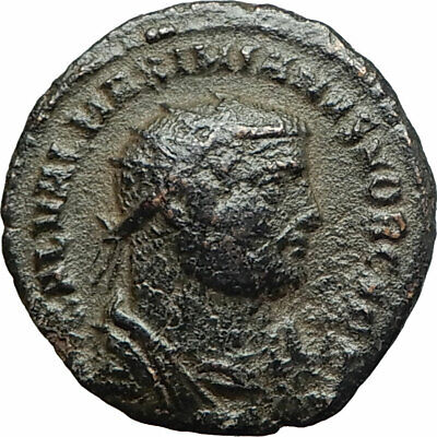 GALERIUS 296AD Antioch Authentic Ancient Roman Coin JUPITER with VIctory  i75819