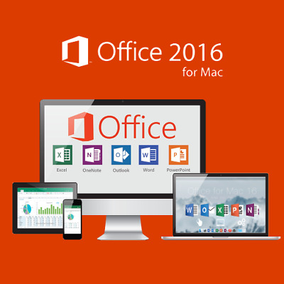 MS Microsoft Office 2016 Home and Business für 1x MAC ab MacOS Lebenslang gültig