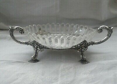 RARE VICTORIAN BACCARAT SILVER PLATED DISH BY PHILIP ASHBERRY No 4976