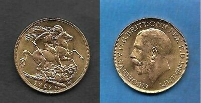 "GOLD - Sovereign 1927 "" Georg V. ""  --> UNZK / STGL."