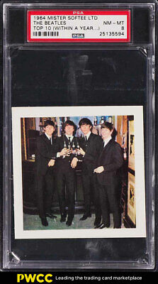 1964 Mister Softee Top 10 The Beatles WITHIN A YEAR PSA 8 NM-MT (PWCC)