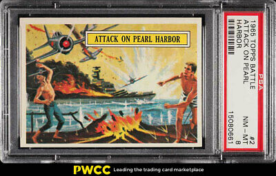1965 Topps Battle Attack On Pearl Harbor #2 PSA 8 NM-MT (PWCC)