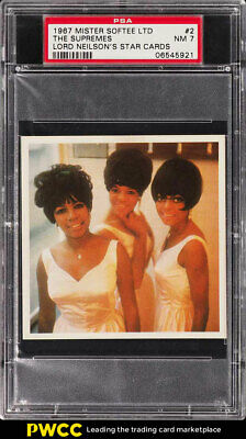 1967 Mister Softee Lord Neilson's Star Cards The Supremes #2 PSA 7 NRMT (PWCC)