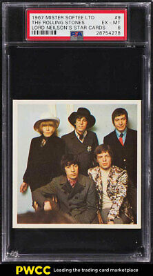 1967 Mister Softee Lord Neilson's Star Cards The Rolling Stones #9 PSA 6 (PWCC)