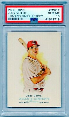 JOEY VOTTO 2008 Topps (Trading card History) #12 Cincinnati Reds SP RC PSA 10