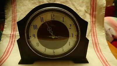 Antique Smiths 30 Hour Mantel Clock For Spares Or Repairs.