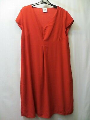 Red Lined Smart Maternity Dress Size L By Mamalicious