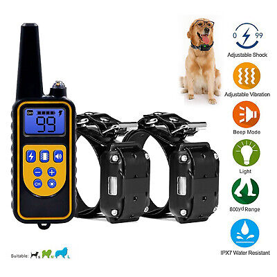 LCD Anti-Bark Electric Shock E-Collar Dog Training Remote Control Rechargeable