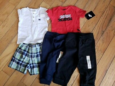 Lot Of Toddler Boys Clothing - 5 Pieces NWT - Size Range 6 to 18 months