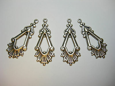 Antiqued Silver  Plated Victorian style Art Deco Drops Earring Findings 4